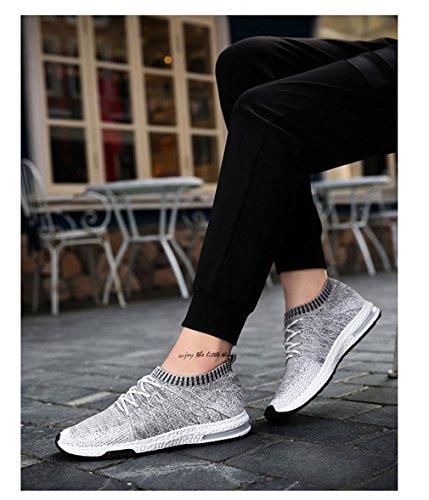 casual Walking da Light traspirante in sulle uomo da uomo scivolano maschile paio scarpe uomo di mesh unisex da Slipon Scarpe Grey calzature moda dn6qCxd
