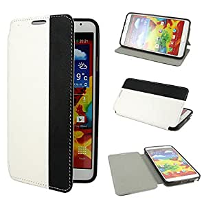 Leathlux Hit Color Design PU leather Flip Case Cover for Samsung Galaxy Note 3 III N9000 / N9005 White