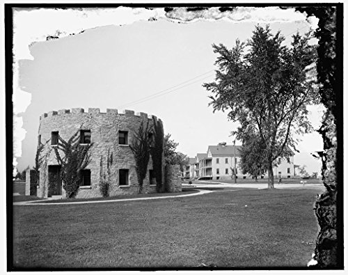 16 x 20 Gallery Wrapped Frame Art Canvas Print of Old round tower and new barracks Ft Snelling Minn 1905 Detriot Publishing co. ()