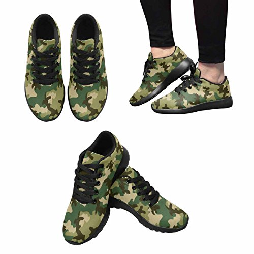 InterestPrint Womens Trail Running Shoes Jogging Lightweight Sports Walking Athletic Sneakers Camouflage Pattern Multi 1 4SbT8Xe748