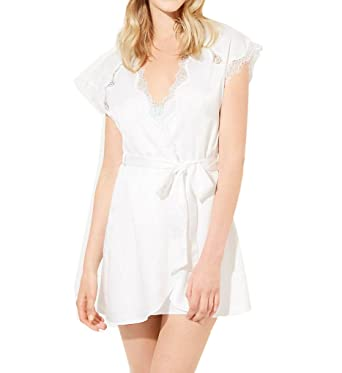 Betsey Johnson Intimates Bridal Blue Satin Robe (734900) L Pearl at Amazon Women s  Clothing store  1fc5730b5