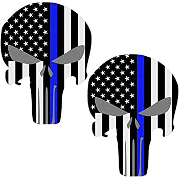 Amazon Com Punisher Skull Police Blue Line Us Sticker Decal America