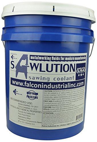 (Sawlution Sawlution.Pail Premium Sawing Coolant, 5 gal Pail, Blue)