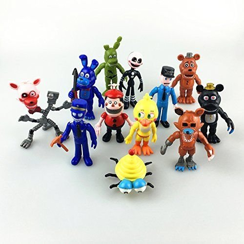 [Fnaf Five Nights at Freddys Action Figures Toys Dolls 12PCS/Set, 4 INCHES HT] (Fnaf Bonnie Costume)