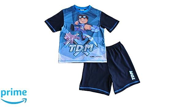 Pijamas Dan TDM YouTube Heroes, para niños de 7 a 13 años: Amazon.es: Ropa y accesorios