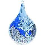 """Caithness Presse-papier en verre """"Goutte d'eau en Cadence (Musique)-Bleu, multicolore"""