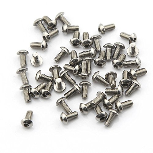 Pack of 50pcs M4*8MM Button Head Hex Socket Cap Screws 304 stainless steel bolts