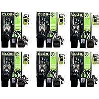 QTY 6 Blackbox Club-X UHF 16Ch 2W Compact Radio Nightclub Bar W/built in flashlight
