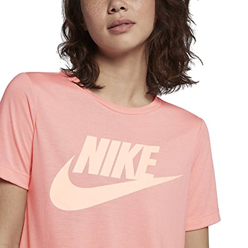 Mujer Tint Coral Camiseta Essential Nike Hybrid Sunset tee Bleached wBOnUTq
