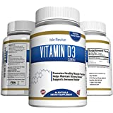 Vitamin D3 5000 IU in Organic Extra Virgin Olive Oil - 60 Non-GMO Softgels. High Potency Dietary Supplement Promotes Bone, Muscle, and Dental Health - Made in USA and 3rd Party Lab Certified