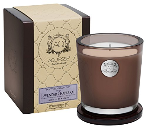 Aquiesse LAVENDER CHAPARRAL Large Candle in Gift Box Smoke Brown ()