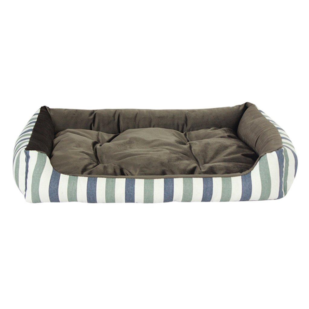 65cm BEDS Dogs Furniture Arredamento, blu e bianco a strisce di velluto nidificante cane Pet cat e cane (Dimensione:65cm)