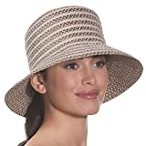 Eric Javits Luxury Fashion Designer Women's Headwear Hat - Braid Dame - Bark
