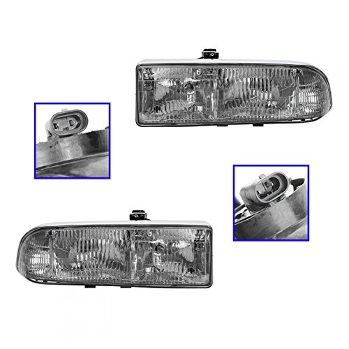Headlamps Headlights LH&RH Pair Set of 2 for Blazer S10 Truck Jimmy S-15 Sonoma (S15 Truck S10)