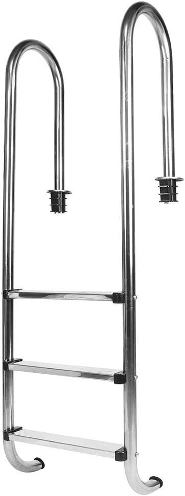 Piscina especial de alta calidad de acero inoxidable 304 antideslizante escalera mecánica para piscina seguridad de la piscina de 3 pasos escalera de 3 escalones suministros para el baño de la piscina