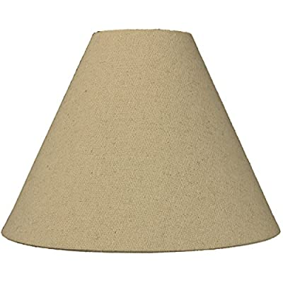 4x11x9 Sand Linen Coolie Lampshade with brass spider fitter by Home Concept - Perfect for small table lamps, desk lamps, and accent lights -Small, tan