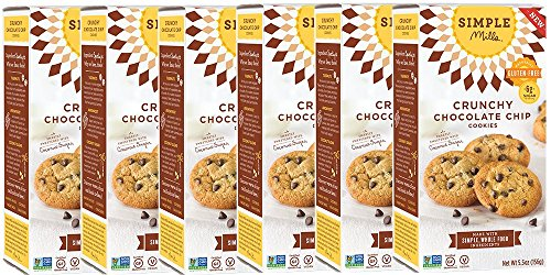 Simple Mills Crunchy Cookies, Chocolate Chip, 5.5 oz, 6 count