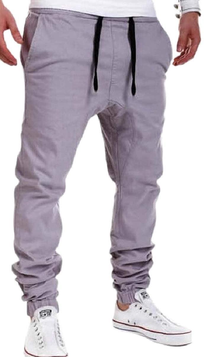 ZXFHZS Mens Solid Color Sweatpants Sports Autumn Casual Drawstring Pants