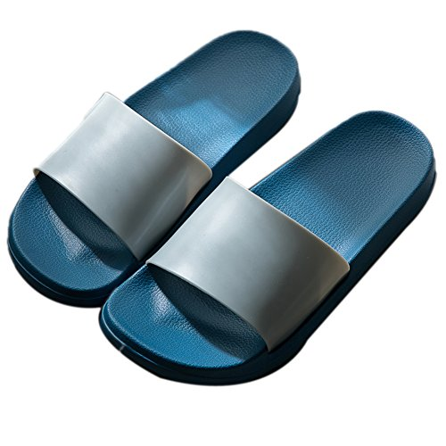 casa Ba Femeninas Zapatillas Ba Gruesa Zapatillas Masculinas Hombres TELLW o para de Interiores Azules de o de Verano Antideslizantes Femeninas EaAxq