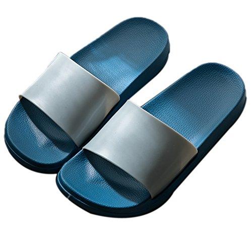 Antideslizantes Gruesa Interiores TELLW Masculinas Zapatillas Ba Azules Ba para casa Femeninas de de de o Verano o Femeninas Zapatillas Hombres vwqRwdP