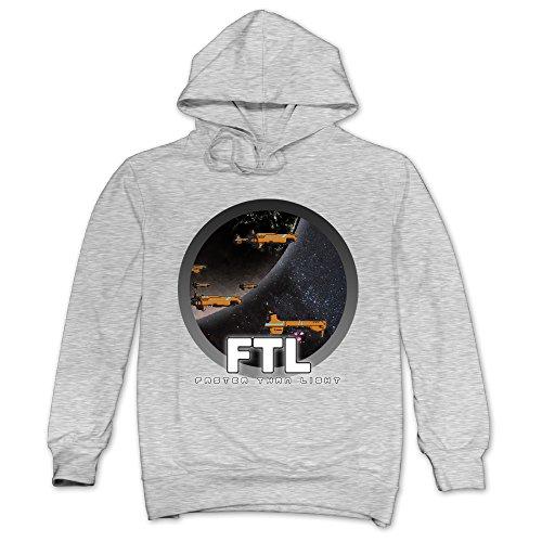 [JXMD Men's FTL Faster Than Light Sweater Ash Size XL] (One Up Mushroom Costume)