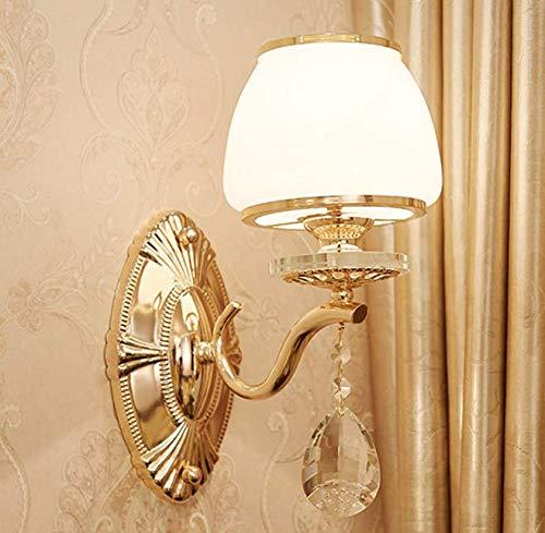 Single Head Three-Farbe Light Crystal Wandleuchte Hotel Wandleuchte, Einzelkopf dreifarbige Licht