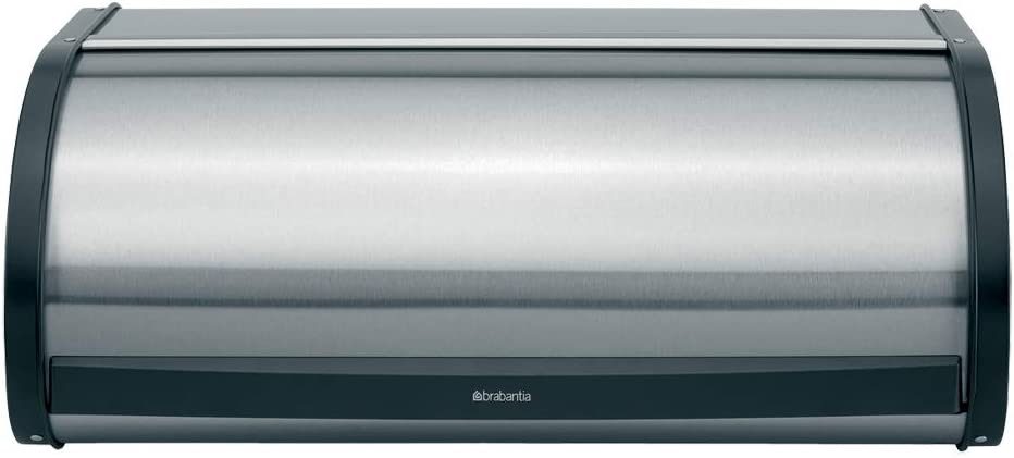 Brabantia Roll Top Bread Box - Matte Steel Fingerprint Proof