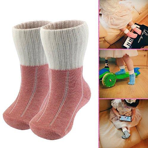 MO-KO-KO - Baby socks (boys & girls) 2 pair (1-3 years old, Pink) -