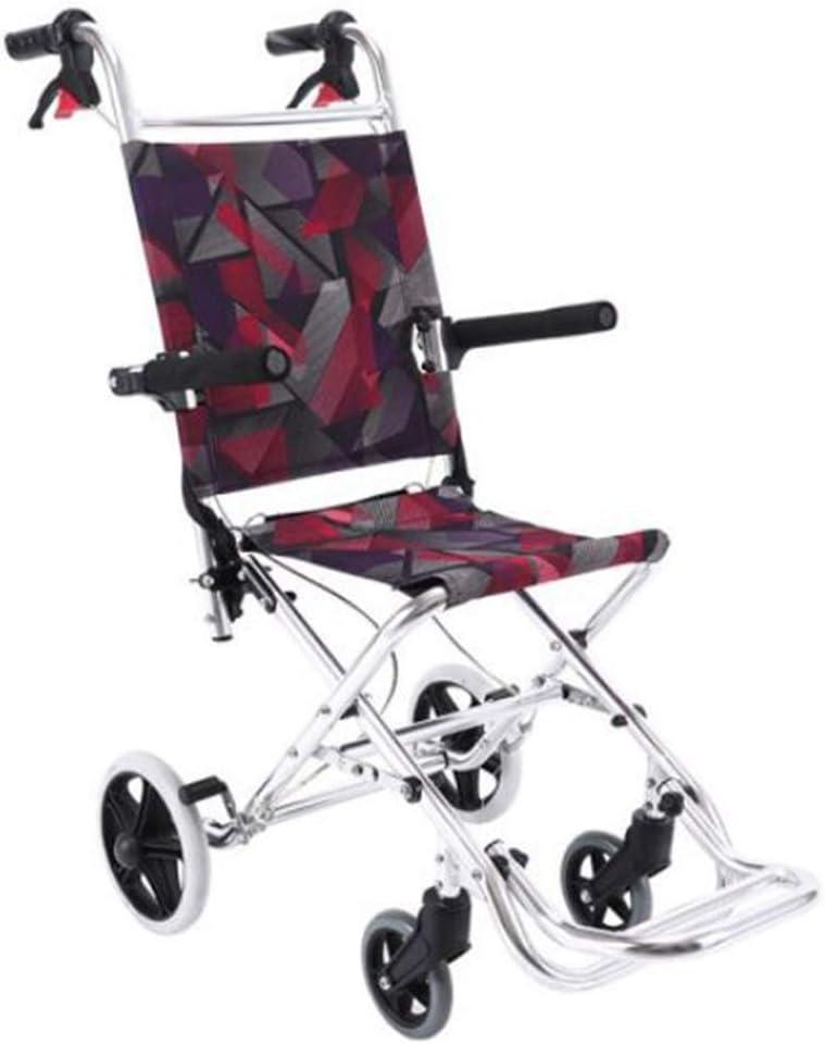 TX Manual Silla De Ruedas PequeñA/Ligera Silla De Ruedas/PortáTil/Plegable/Anciano/Discapacitado/Puede Estar En El AvióN