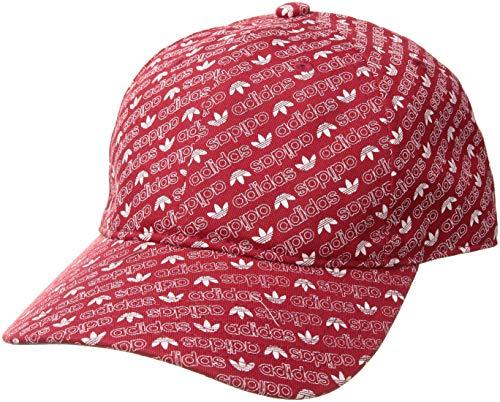 - adidas Men's Originals Relaxed Strapback Cap, collegiate red/white Monogram, One Size