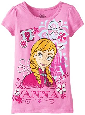 Disney Little Girls' Frozen Anna Castle Tee, Purple, 4