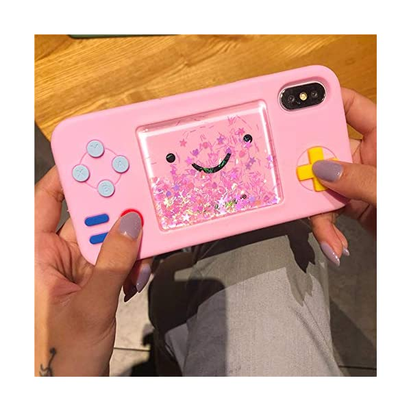 Unnfiko Squishy 3d Cartoon Game Case Compatible With Iphone 6 Iphone 6s Creative Liquid Stars Funny Play Case Soft Rubber Protective Cover For Girls Women Pink