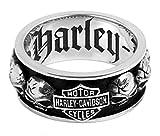 Harley-Davidson .925 Silver Spinning Skull Mens Ring 12
