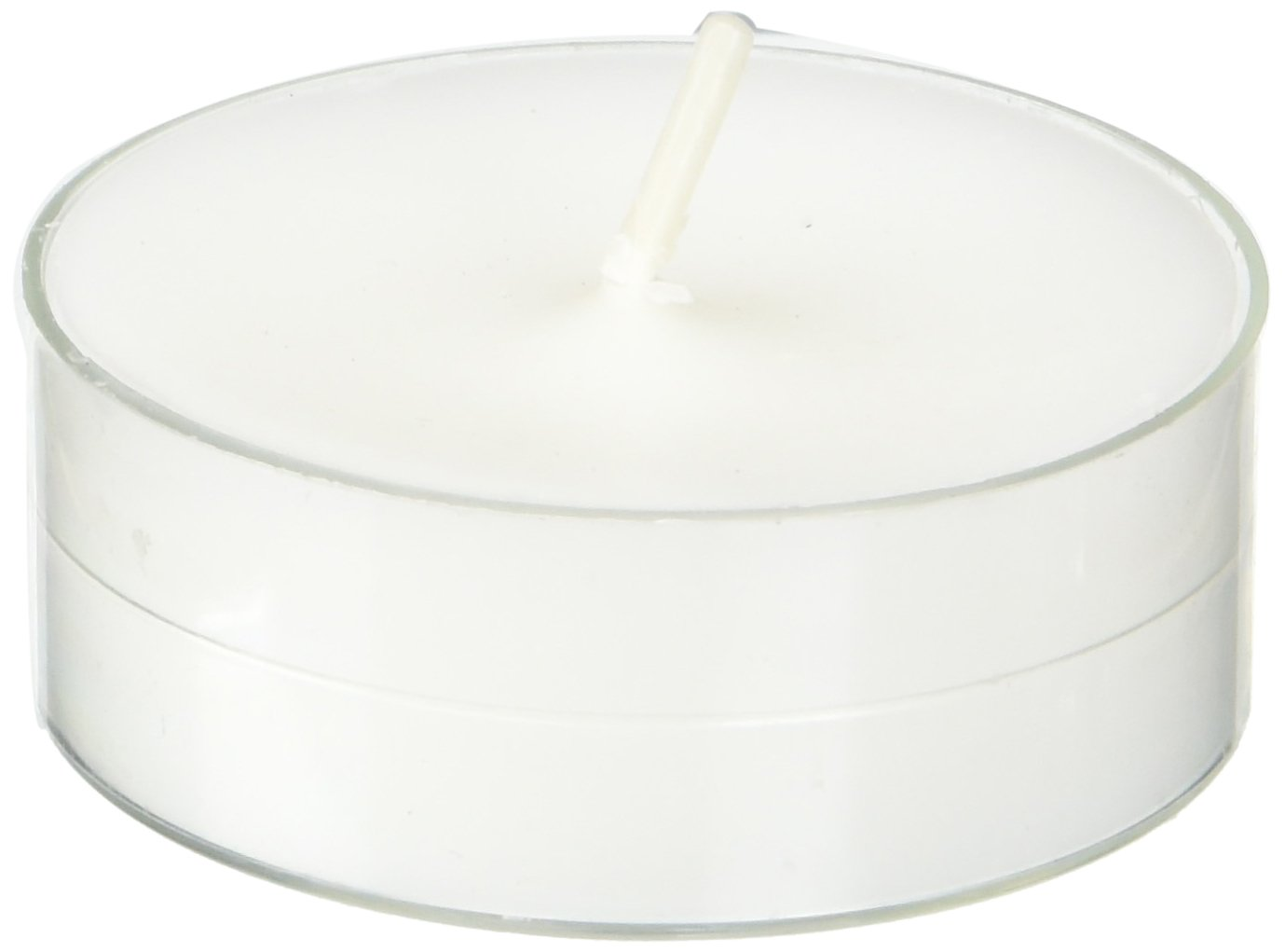 Zest Candle CTM-020_12 144-Piece Mega Oversized Tealight Candle, White by Zest Candle