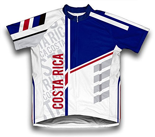 Costa Rica Away Jersey (Costa Rica ScudoPro Short Sleeve Cycling Jersey for Men - Size XL)
