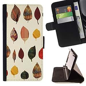 Momo Phone Case / Flip Funda de Cuero Case Cover - Patrón de otoño Arte Naturaleza Amarillo - Samsung Galaxy S3 III I9300
