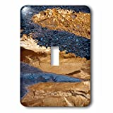3dRose Danita Delimont - Abstracts - USA, Utah. Abstract reflections in stream with pebble designs. - Light Switch Covers - single toggle switch (lsp_260311_1)
