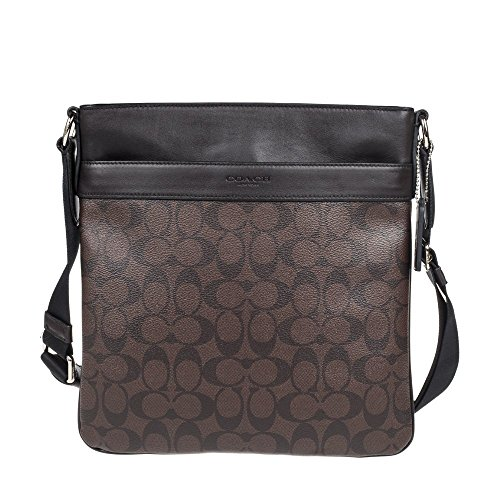 Coach mens PVC Handbag Crossbody F54781 (Brown)