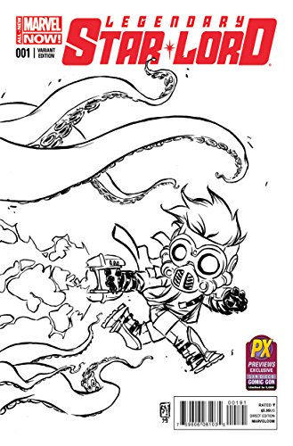 Sdcc Star (Sdcc 2014 the Legendary Star-lord #1 Skottie Young B&w Variant)