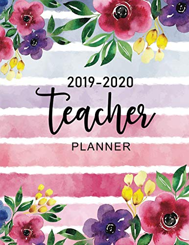 Teacher Planner 2019-2020: Watercolor Flower Cover | Daily Weekly and Monthly Planners Academic Year Lesson Plan and Record Book | Time Management for ... June 2020 (Teacher Planning and Record Book) ()