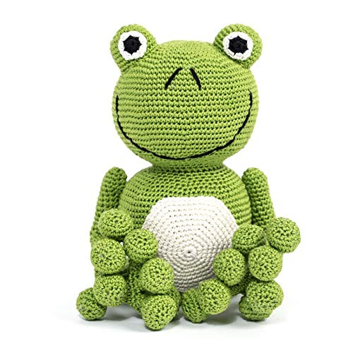 Frog. Children's crocheted toy Hope