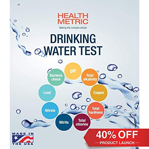 Bacteria Tap Water - Health Metric  Drinking Water Test Kit for Home Tap and Well Water - Simple Testing Strips for Lead Copper Bacteria Nitrate Chlorine and More | Made in USA to EPA Standards