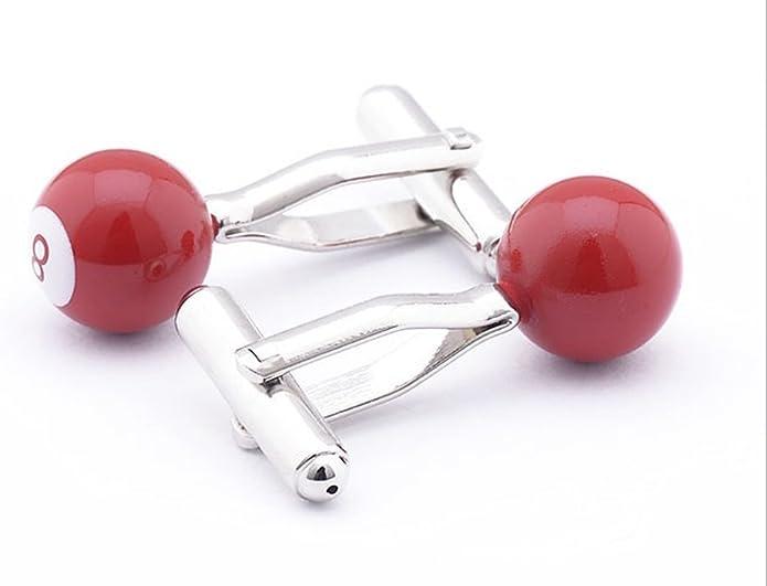 Rojo Gemelos de ocho 8 piscina de bolas de billar puño botón ...