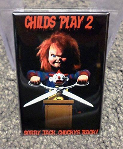 Childs Play 2 Chucky Movie Poster 2 x 3 Refrigerator Locker MAGNET