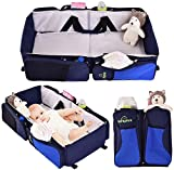 K&A Company Diaper Bag Bassinet Baby Portable Travel Infant Bed Crib Nursery Stroller Foldable 3 in 1