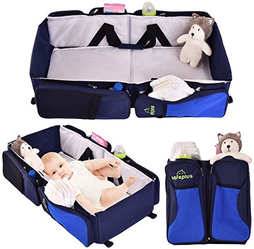 K&A Company Diaper Bag Bassinet Baby Portable Travel Infant Bed Crib Nursery Stroller Foldable 3 in 1 by K&A Company