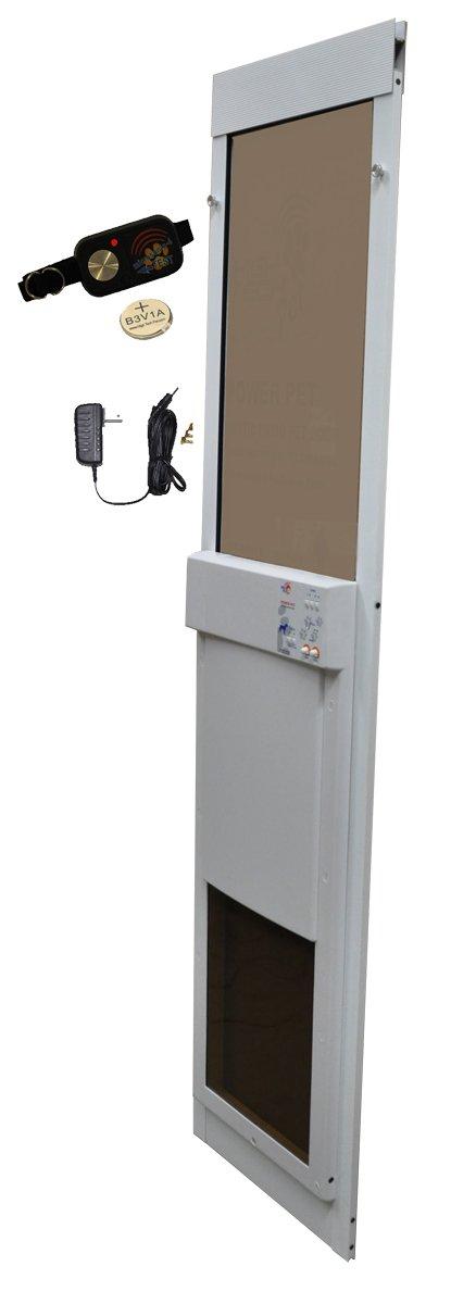 High Tech Pet - Large Power Pet Sliding Glass Door for Dogs and Cats - Regular Height by High Tech Pet