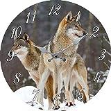 Wanduhr Wolf,Wölfe Duchmesser ca, 35 cm