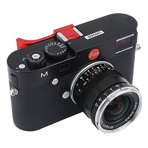Haoge THB-M24R Metal Hot Shoe Thumb Up Rest Hand Grip for Leica M Typ240 M240, M-P Typ 240 M240P, M Typ262 M262, M-D Typ 262 Camera Red (Leica M240 Accessories)