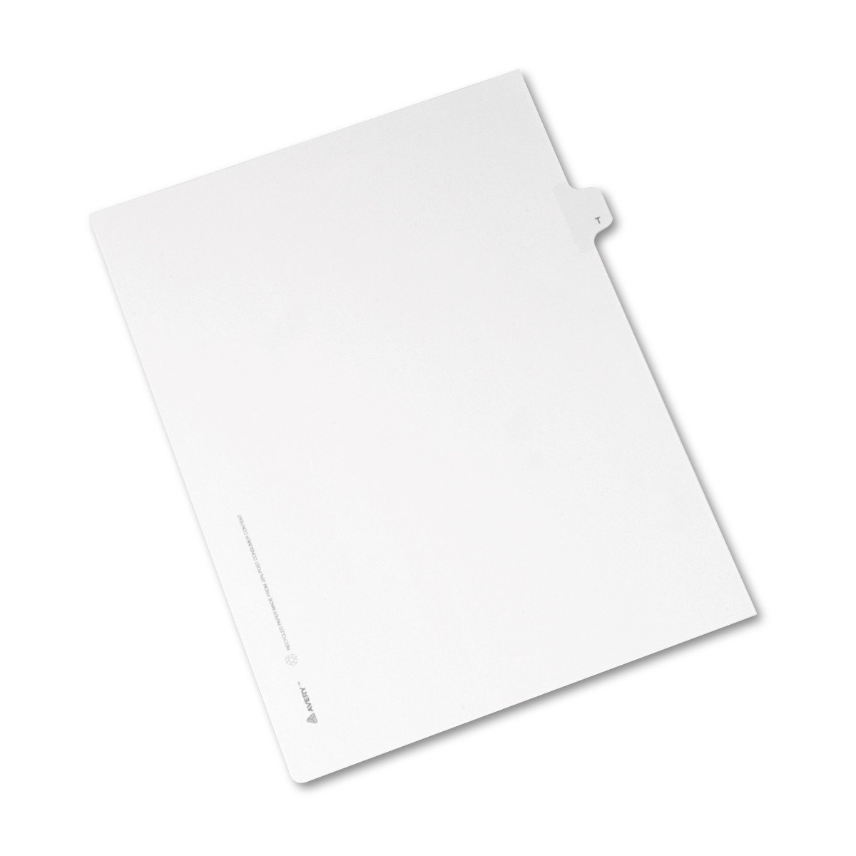 8.5 x 11 inches Avery Individual Legal Exhibit Dividers Allstate Style Pack of 25 82182 Side Tab T